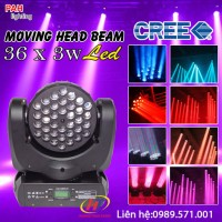 Moving head beam 36x3w led